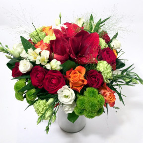 Festive Day - Hippeastrum, Roses, Chrysantemums, Carnations, Lisianthus (Classic)