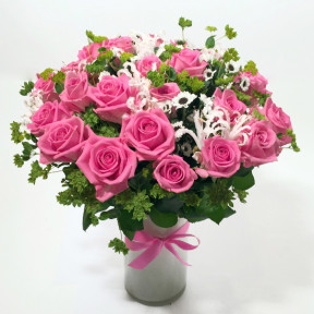 Pink Fog- pink roses and additional flowers (Classic)
