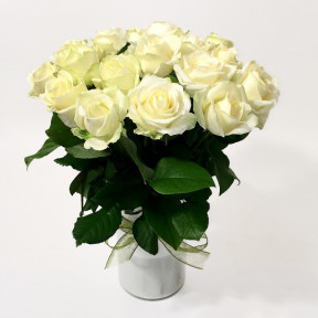 Bouquet of White Roses (15 Roses)