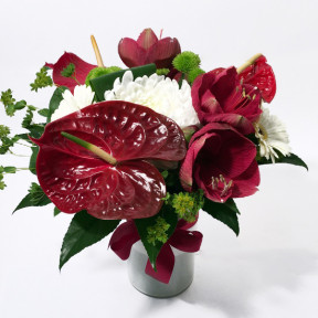 Red Desire- anthuriums, amaryllis, roses (Classic)