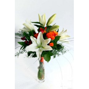 Bunch of oranges and white beans and roses (Premium)