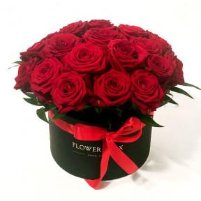Red Roses in a round giftbox