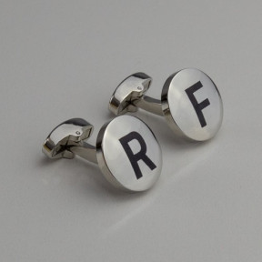 Silver Button Personalised Cufflinks