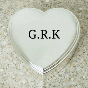 Personalised Initials Heart Shaped Trinket Box