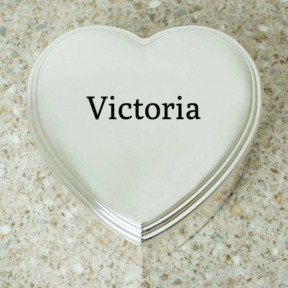 Personalised Heart Shaped Trinket Box