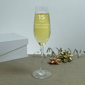 Wedding Anniversary Personalised Champagne Flutes