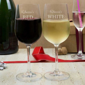 White & Red Wine Glasses