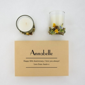Personalised Sentimental Bee Candles