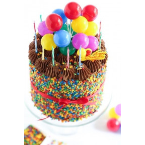 Chocolate Creamy Cake With Balloons (Half KG)