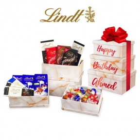 Personalised Lindt Chocolate Gift Tower