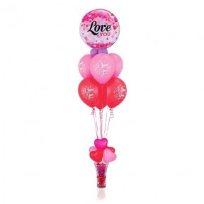 Love You Pink Balloon Bouquet
