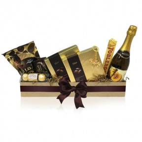 Gold Luxury Dates Gift Box