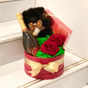 Luxury Swarovski Teddy, 24K Gold Emotion And French Chocolates