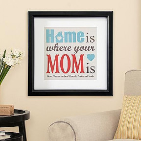 Personalized Frame 'Home is where your MOM is'