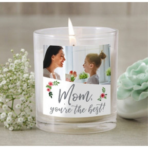 Personalized 'Mom You are The Best!' with Photo Candle Jar