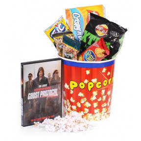DVD Movie, Popcorn and Treats Hamper
