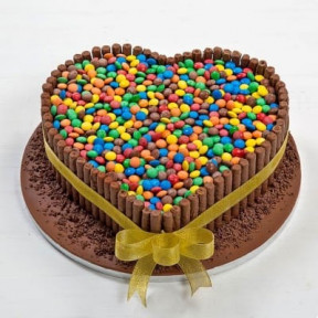 Heart Shape Cake With Smarties (2 KG)