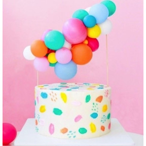 Colorful Design Cake With Mini Balloons (1 KG)