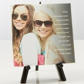 Personalized Canvas with wooden stand
