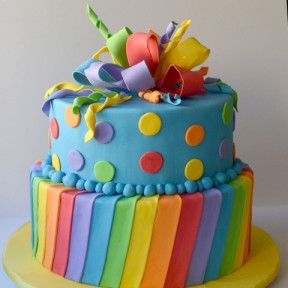 Rainbow Color Birthday Cake (1 KG)