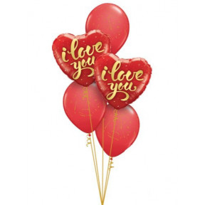 Romantic €˜I Love You' Heart Balloon Bouquet