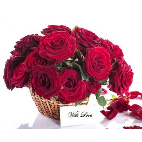 Sexy Red Roses Basket