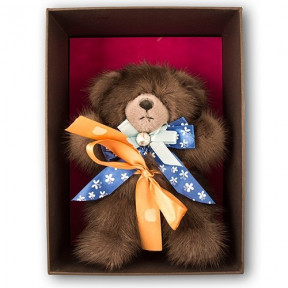 'Cocoa' Luxury Natural Fur Teddy Bear