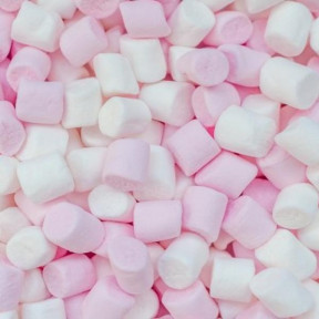 Prydes Mini Pink & White Puff Marshmallows