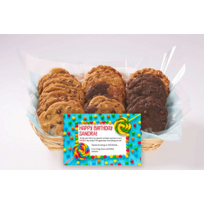 A Sweet Tooth'S Birthday Basket (12 cookies)