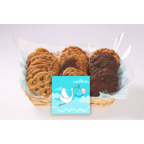 Baby With Stork Gift Basket (12 cookies)