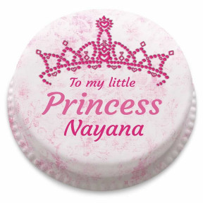Little Princess Tiara Cake (Small Party Cake (Serves 10-12))