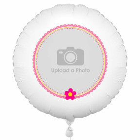Pink Flowers Photo Balloon