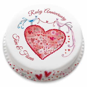Ruby Anniversary Cake (Small Party Cake (Serves 10-12))