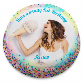 Sprinkles Photo Cake (Small Party Cake (Serves 10-12))