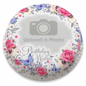 Birthday Wreath Photo Cake (Small Party Cake (Serves 10-12))