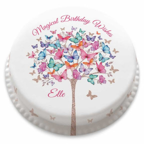Butterfly Tree Cake (Small Party Cake (Serves 10-12))
