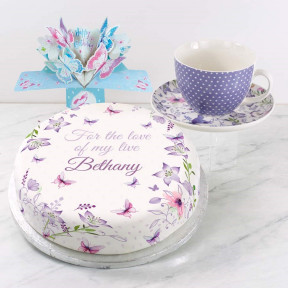 Purple Polka Gift Set (Small Cake Set (C) Serves 10)