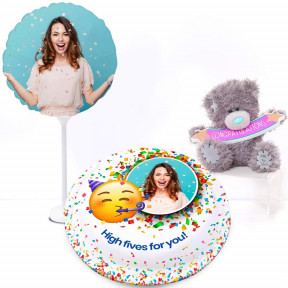 Me To You Congratulations Gift Set (Small Cake Set (M) Serves 10)