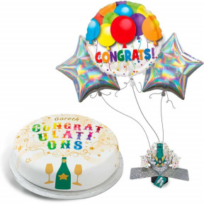 Congratulations Explosion Gift Set (Small Cake Set (L) Serves 10)