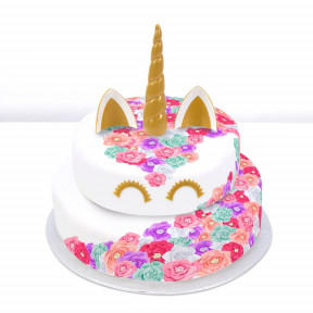 Pastel Rainbow Unicorn Cake (Single Tier (P) (Serves 10))