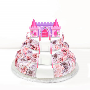 Princess Castle Cake (Single Tier (L) (Serves 10))