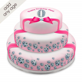 Any Age Diamond Tiered Cake (Single Tier (Serves 10))