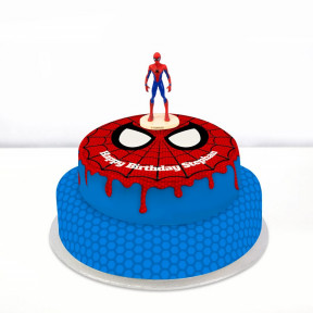 Spiderman Cake (Single Tier (P) (Serves 10))