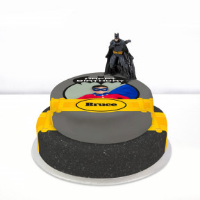 Batman Photo Cake (Single Tier (P) (Serves 10))