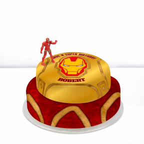 Iron Man Cake (Single Tier (P) (Serves 10))