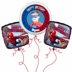 Spiderman Photo Balloon Bouquet