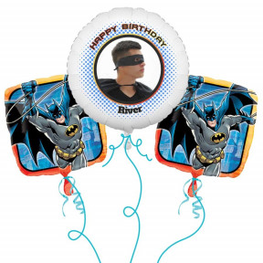 Batman Photo Balloon Bouquet