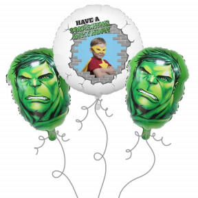 Hulk Photo Balloon Bouquet