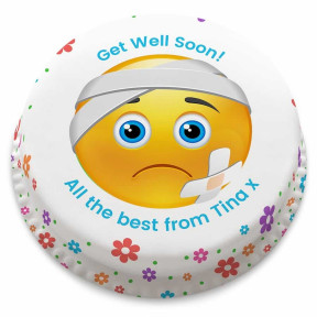 Get Well Emoji Cake (Small Party Cake (Serves 10-12))