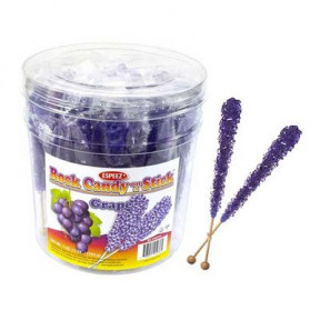 Purple Rock Candy Sticks Wrapped 36 Count